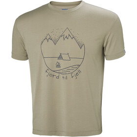 Helly Hansen Skog Graphic t-shirt Heren beige
